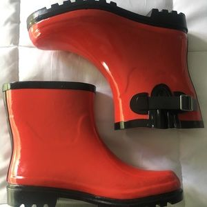 Shoes - Red Wellies